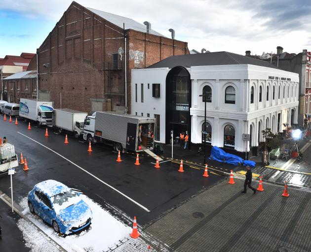 Dunedin's Vogel St was used in the filming for the movie Black Christmas. Photo: ODT files