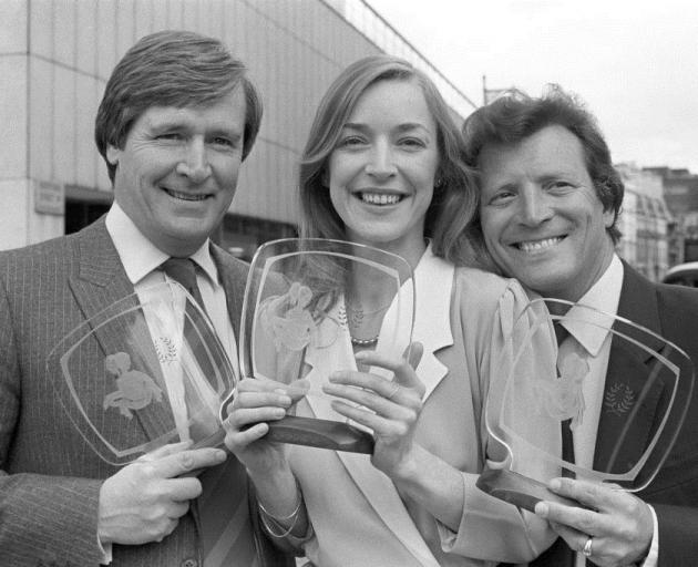 William Roache (left), Anne Kirkbride, and Johnny Briggs. Photo: Getty Images