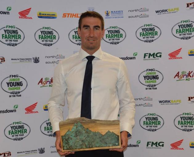 FMG Young Farmer of the Year Aorangi Regional winner Dale McAlwee, of Pendarves Young Farmers...