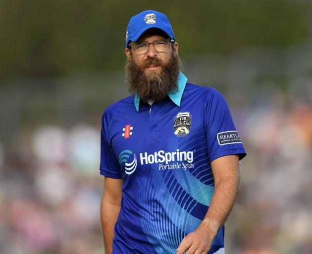 Daniel Vettori during the Black Clash in New Zealand in January. Photo: Getty Images