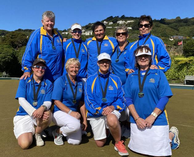 The Dunedin women's team which finished runner-up at the national intercentre championships in...