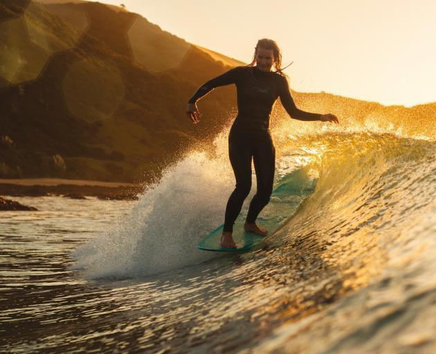 New Zealand pro Mischa Davis surfs a Raglan-esque left-hander at Shipwreck Bay. PHOTOS: SUPPLIED