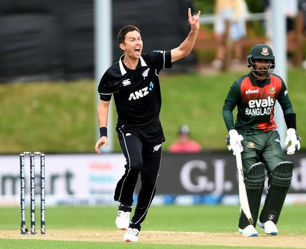 Trent Boult was Man of the Match for his four wickets. Photo: Getty Images