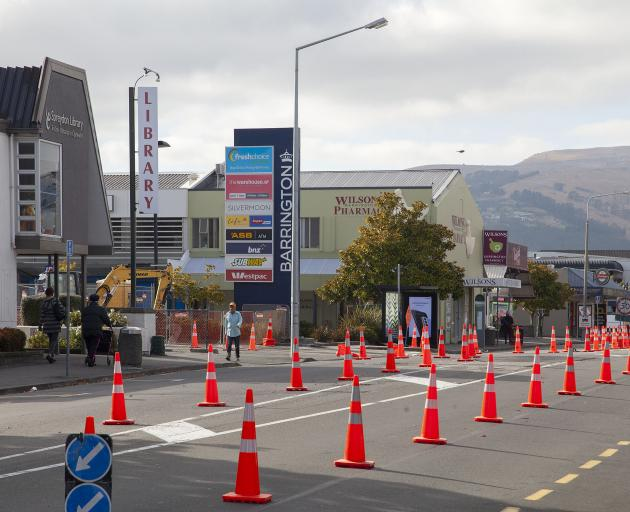 Work at the entrance to the Barrington shopping centre is expected to finish in March. Photo:...