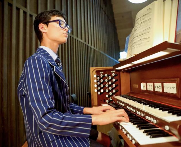 Sea-am on the organ. Photo: Supplied