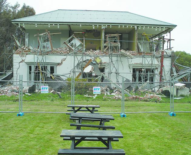 Godley House after the quakes. Photo: Newsline