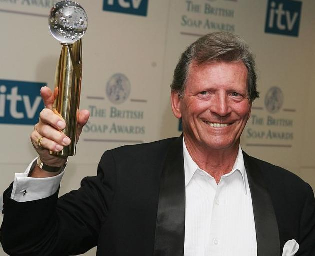 Johnny Briggs with his award given for Lifetime Achievement in 2006. Photo: Getty Images