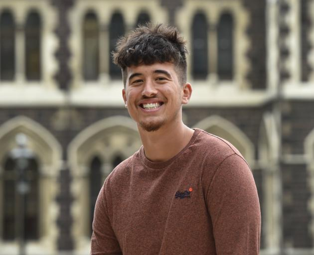 Tongan postgraduate student Jordan Quensell at the University of Otago yesterday. PHOTO: PETER...