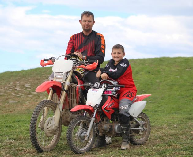 Edendale man Brent Shepherd, and his son Lachie (11) have travelled to the Five Forks Foothills...