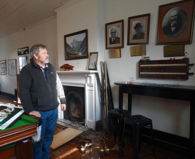 The Terraces Art Gallery owner Kevin Murdoch in June last year, after his building was broken...