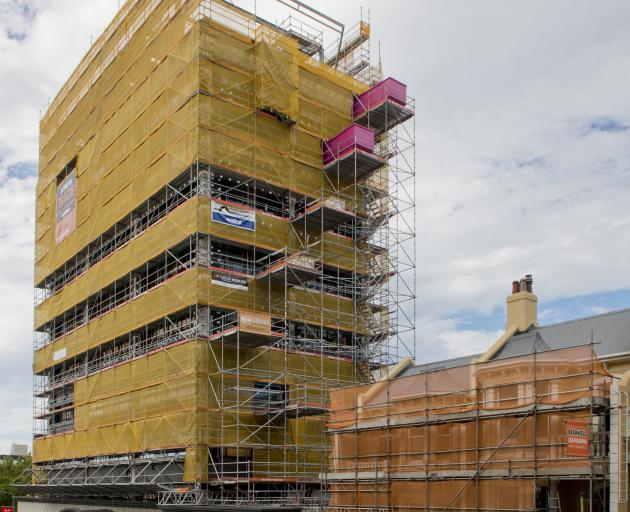 Dunedin building projects great and small are putting pressure on scaffolding supplies. PHOTOS:...