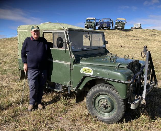 John Weatherall and his 1948 Land Rover.