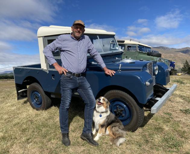Allan Dippie and a 1956 Land Rover.
