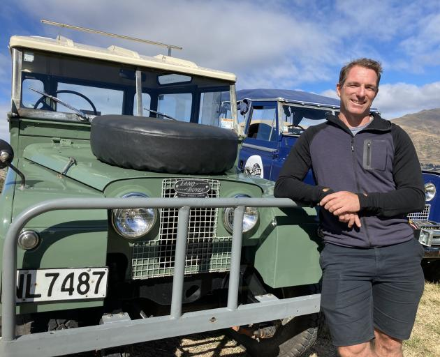 Will Radford and the 1957 Land Rover that dates back to his university days.