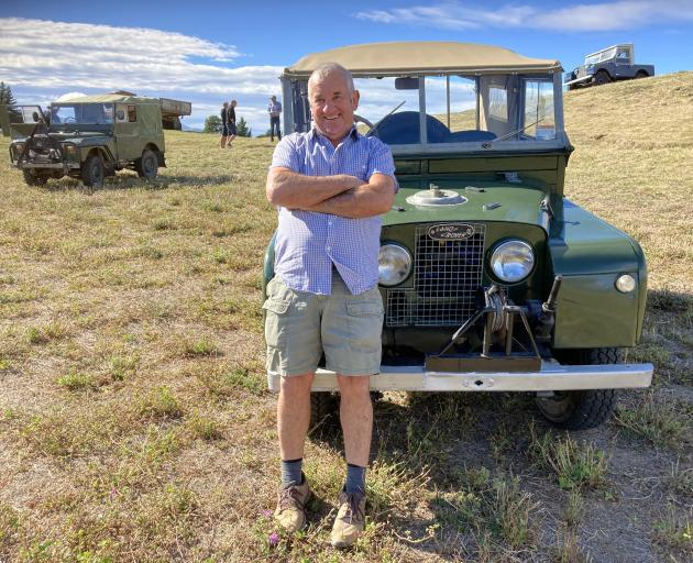 Retired farmer Gerry Vaughan loves his 1955 Land Rover.