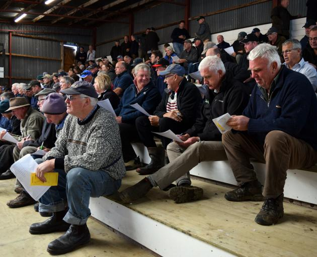 About 140 people attended the Owaka Calf Sale at the Balclutha Saleyards on March 18.