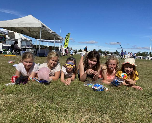 Enjoying all the fun of the fair are (from left) Lexie Taylor (8), Isla Peddie (11), Isabel...