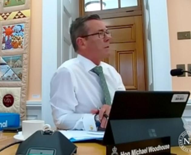 Michael Woodhouse's busy Wednesday at Parliament at the finance and expenditure select committee....