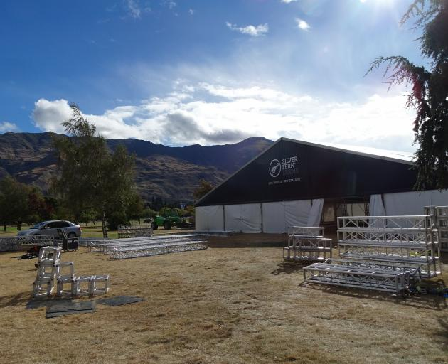 Silver Fern Farms began setting up for the Wanaka A&P Show on Tuesday afternoon, before the board...