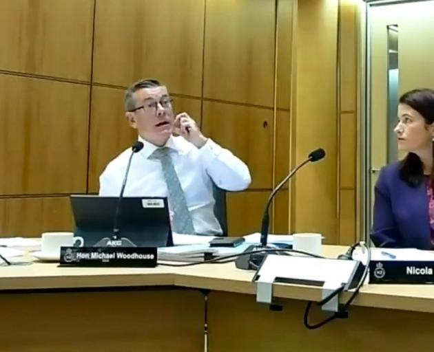 Michael Woodhouse at the governance and administration select committee