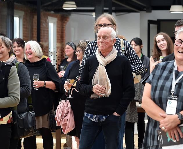 The audience has a laugh during the programme launch yesterday evening for the Dunedin Writers &...