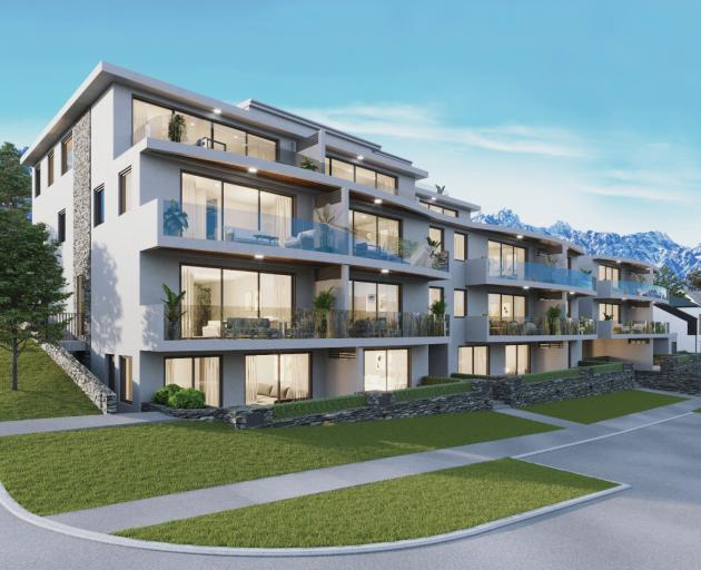 An artist's impression of Lachlan Francis' newest proposed apartment complex, The Mont Blanc, in...