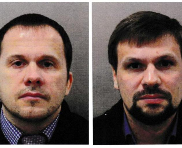 Two men using the aliases Alexander Petrov and Ruslan Boshirov, formally accused in Britain of...