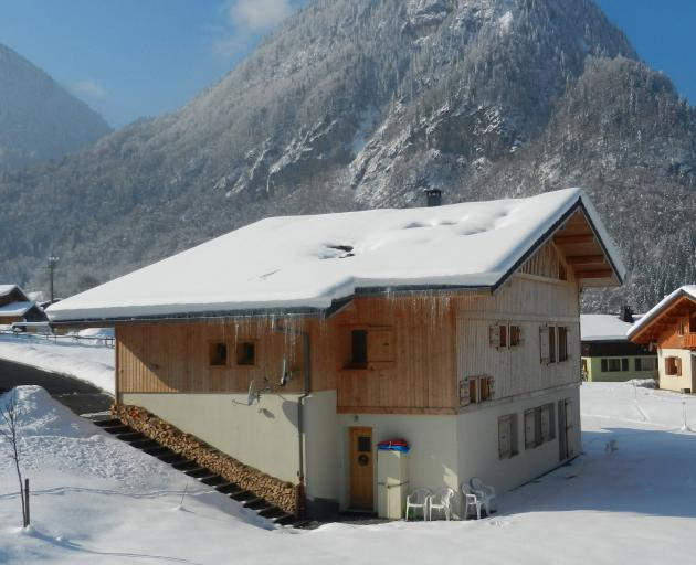 In Sixt Fer a Cheval in the French Alps, we stayed in the downstairs apartment of a Love Home...