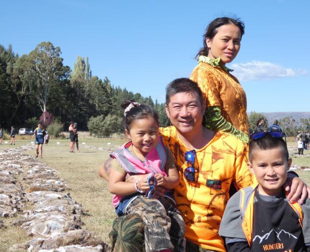 Eddie Lai, his partner Jessa De Delara, and the couple's children Megan Lai (4) and Miguel Lai (9...