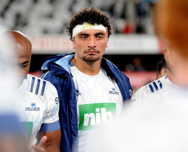Alex Hodgman after the Blues match against the Highlanders on Friday night. Photo: Getty Images