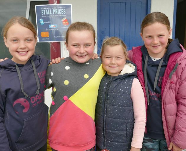 Manning the refreshment stall in Clydevale on Saturday are (from left) Lucy Craig (9), Dorothy...