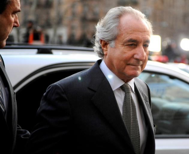 Financier Bernard Madoff arrives at Manhattan Federal court on March 12, 2009. Photo: Reuters