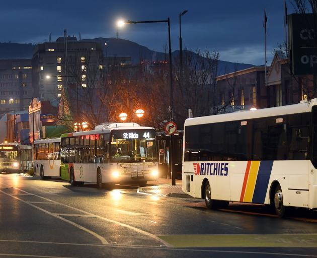 Dunedin's bus hub, which reportedly has been the scene of some youthful misbehaviour recently....