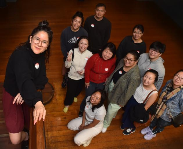 OTHER [chinese] director Alice Canton (front) during a group workshop with members of the Dunedin...