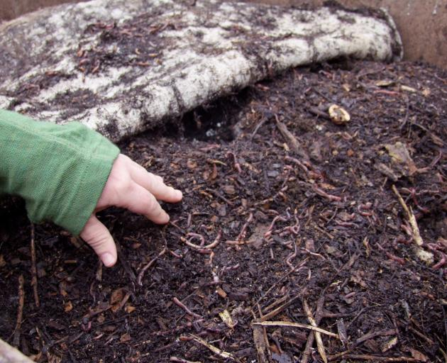 Compost and other garden products should not be handled without gloves.