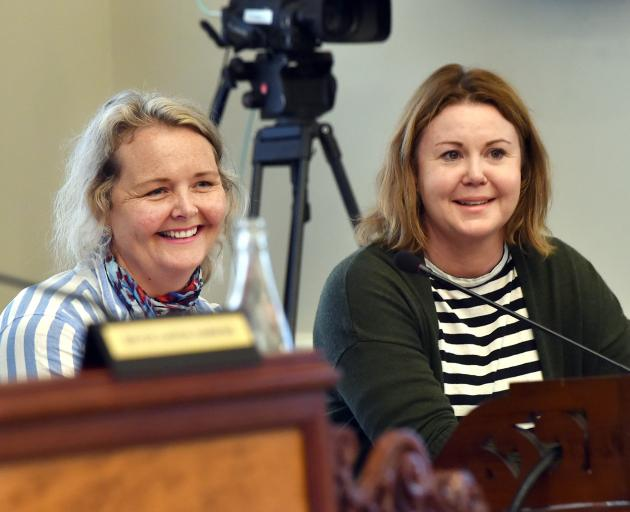Waitati businesswomen Sally Brown (left) and Mel Borrell say a summer promotion of train services...
