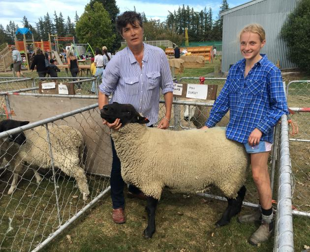 Annabel Tripp and her daughter Georgie Veronese (14) were thrilled to win supreme champion sheep...