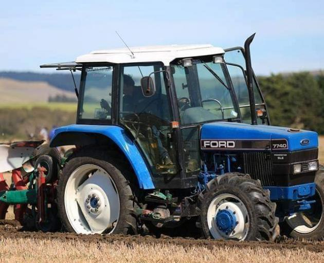 Bob Mehrtens takes his tractor with him to ploughing competitions worldwide. PHOTO: SUPPLIED