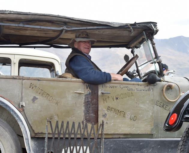 Gavin Ladbrook, of Timaru, in his characterful Dodge 4 Tourer, which bears the name of notable...