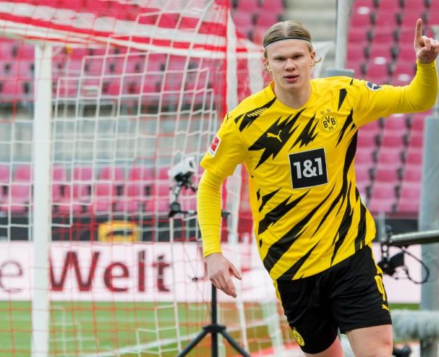 Borussia Dortmund's Erling Haaland could draw a record-breaking transfer fee from Manchester City...