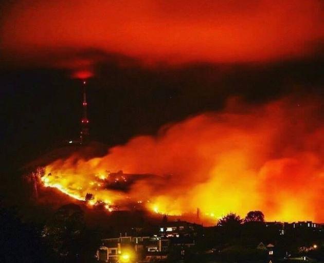 The Port Hills fire. Photo: RNZ / File
