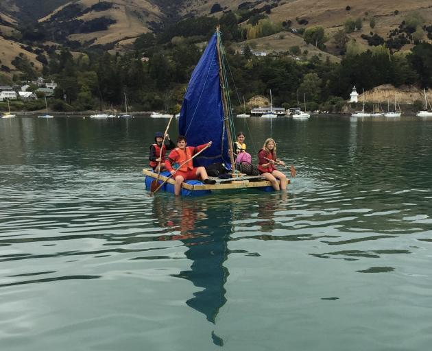 The group sets out across the harbour. Photo: Supplied