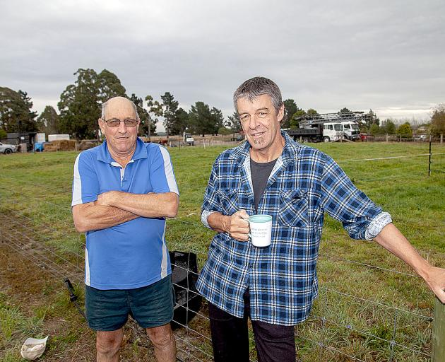 Dunns Crossing Rd, Rolleston, residents Gordon Chamberlain and Gary Smith do not want to be...