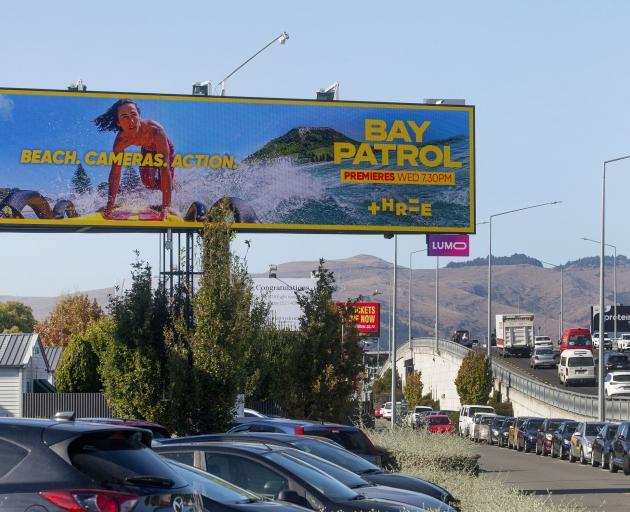 Camera on a billboard near Blenheim Rd. Photo: Geoff Sloan