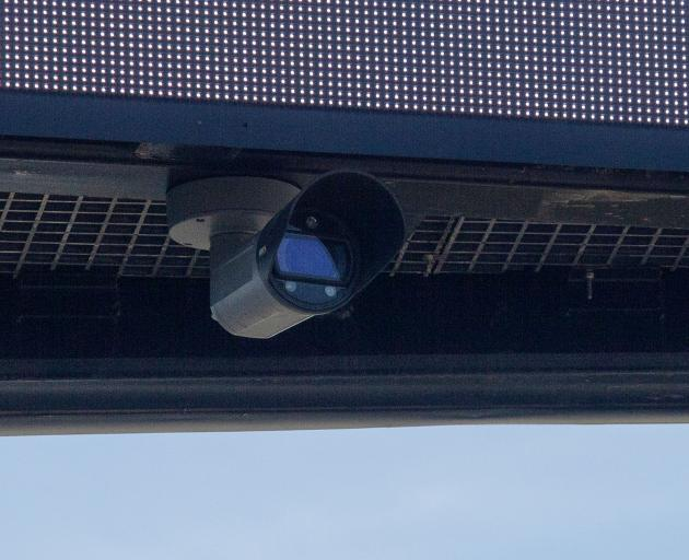 A close up of the camera on a billboard near Blenheim Rd. Photo: Geoff Sloan