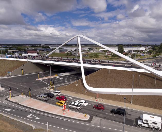 The Memorial Bridge near Christchurch Airport. Photo: Supplied