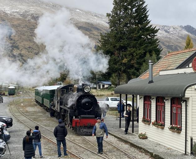 About 180 people boarded the steam train at Kingston just before 10am and travelled to Fairlight where they celebrated with a glass of bubbles. Photo: Stephen Jaquiery