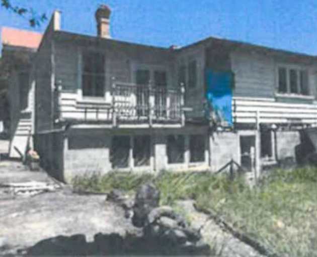 Historical photo from police of the 3 Marlborough St, Mt Eden, boarding house. Photo: Supplied