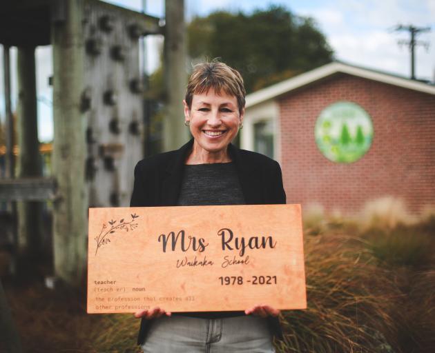 After 43 years at Waikaka School near Gore, Aileen Ryan taught her last class yesterday. PHOTO:...