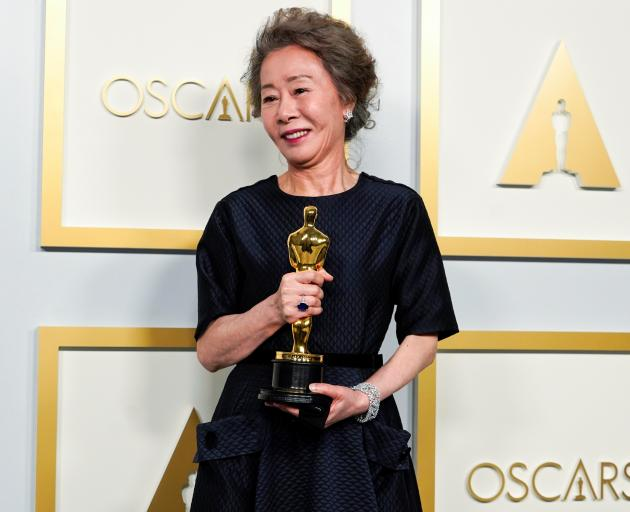 Yuh-Jung Youn, won the award for Best Actress in a Supporting Role for Minari. Photo: Pool/Reuters